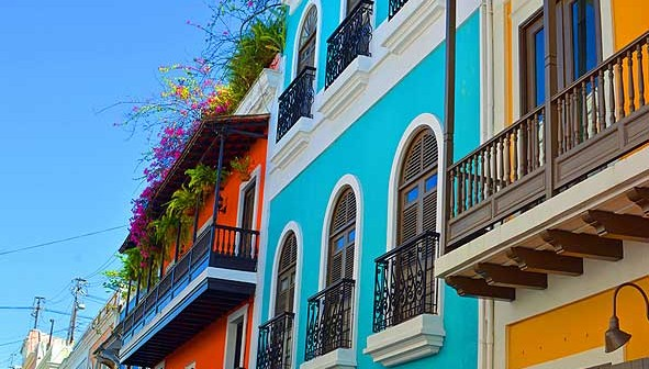 Colourful buildings in Puerto Rico