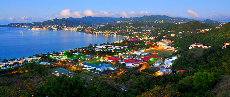 Grenadian-Life---Morne-Rouge-Evening-Lights-(b08618)---T