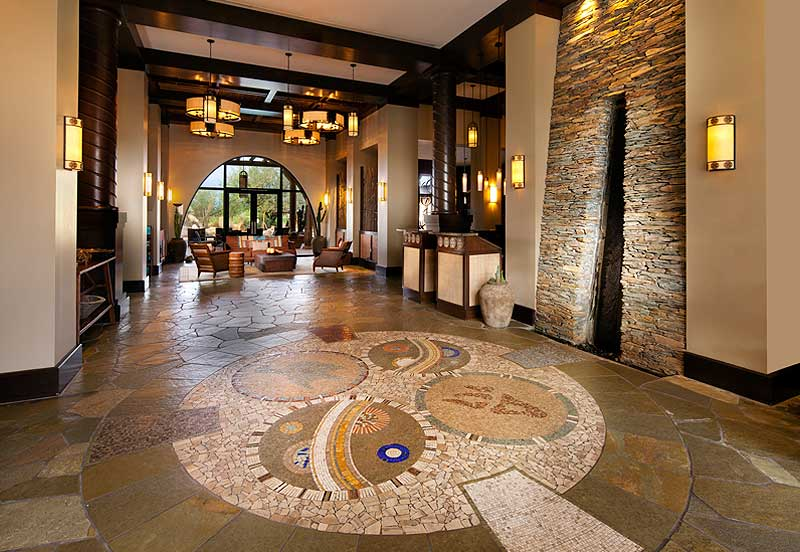 The lobby at Aji Spa