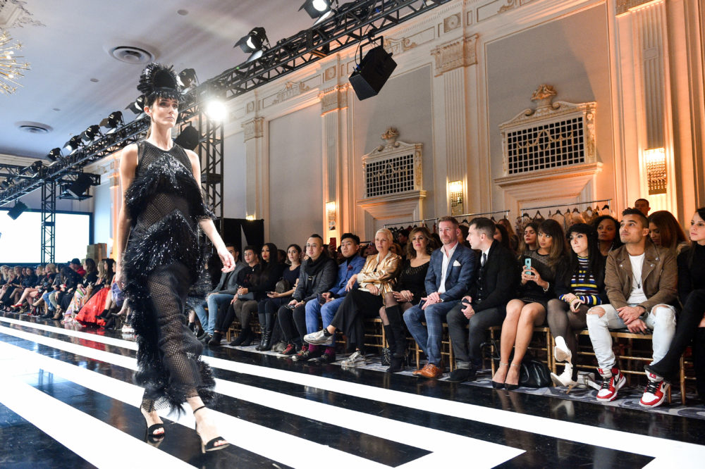 CES Presents black and white runway