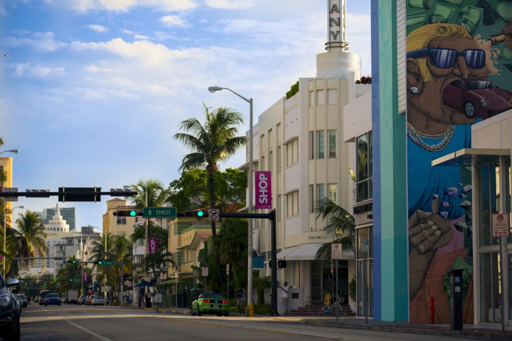 Miami Collins Avenue and 8th Street