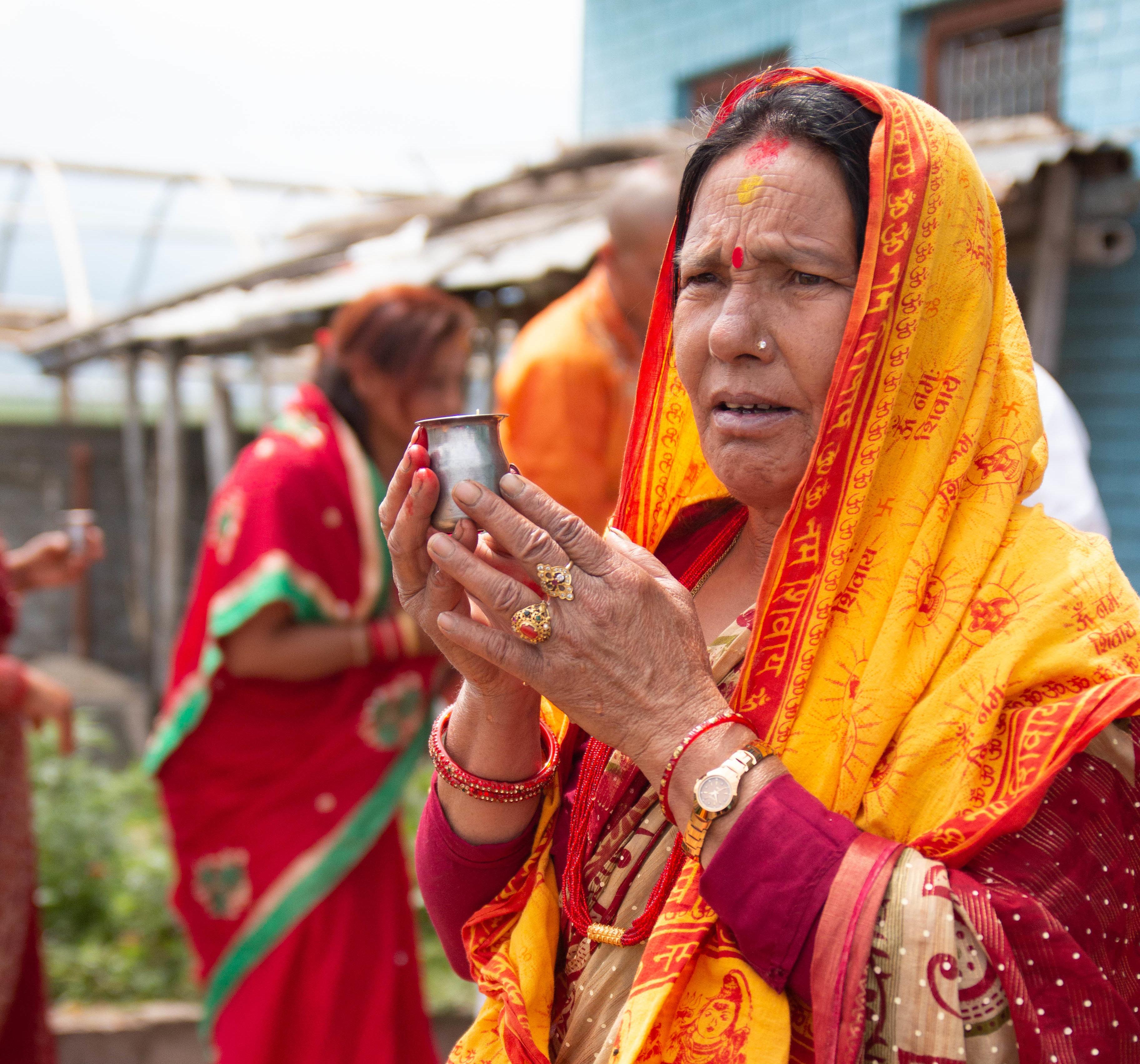 Nepal Hindu funeral anniversary shraadh