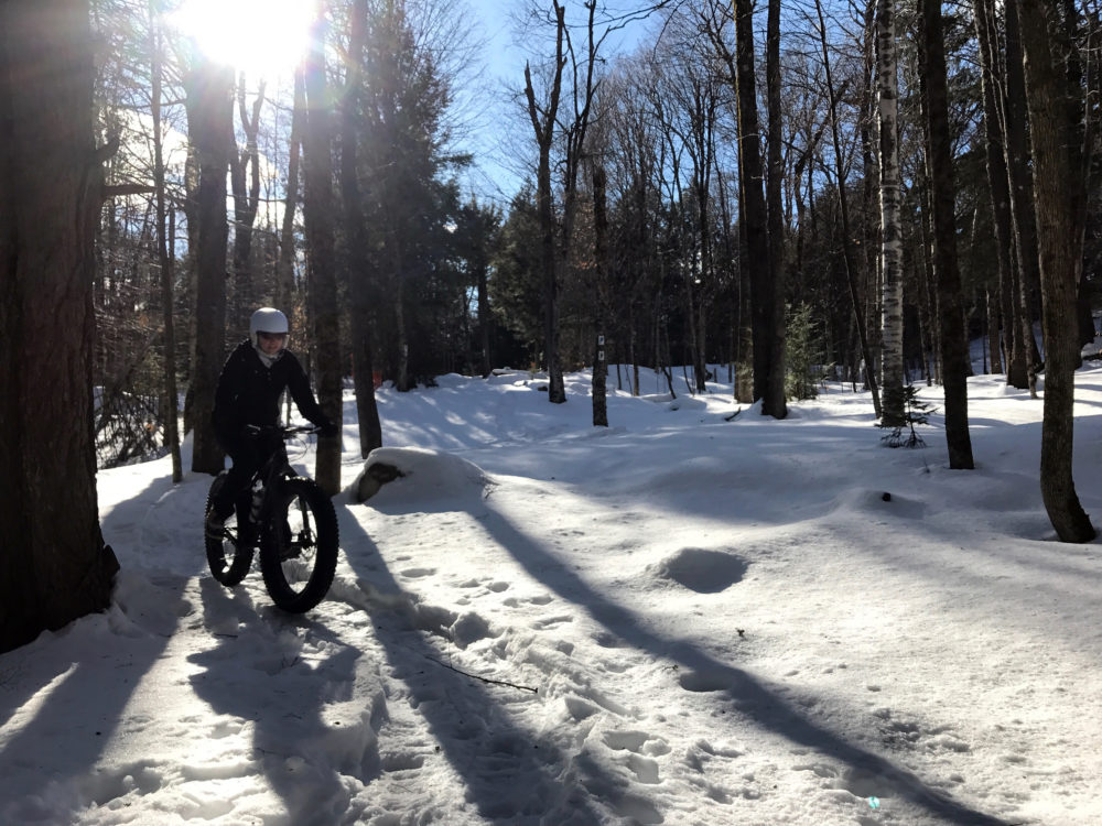 Vermont fat biking at Mountain Meadows in Killington