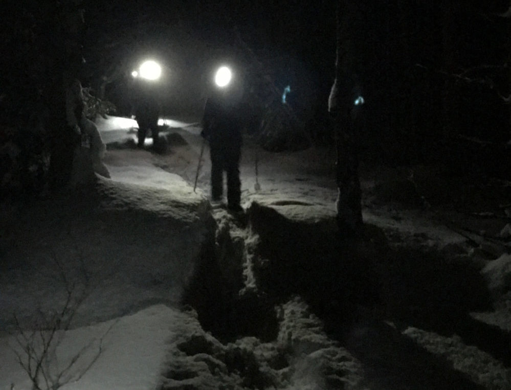 Vermont snowshoeing by night with Umiak Outdoor Outfitters