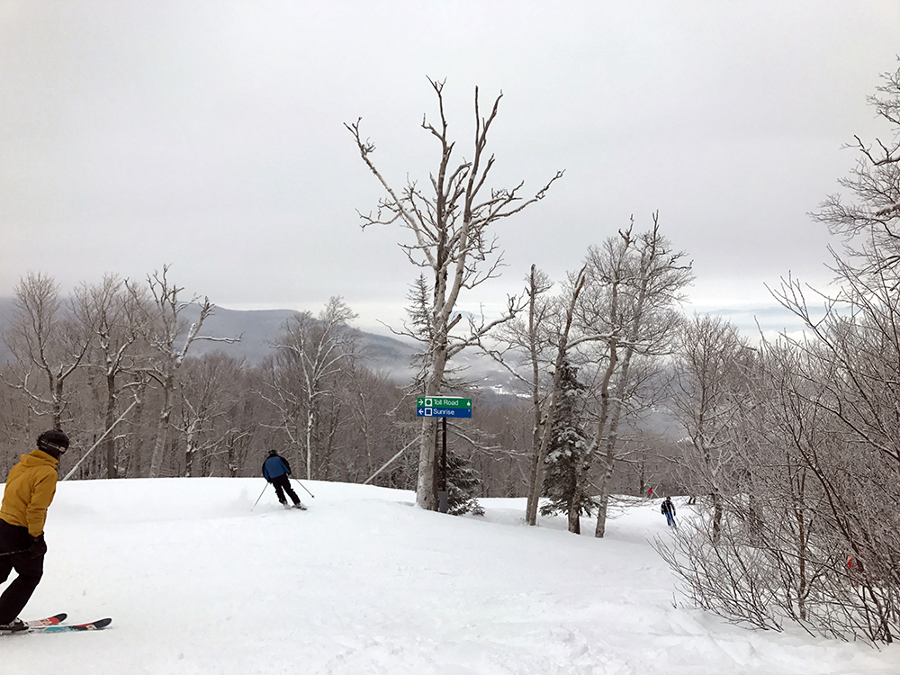 Vermont skiing at Stowe