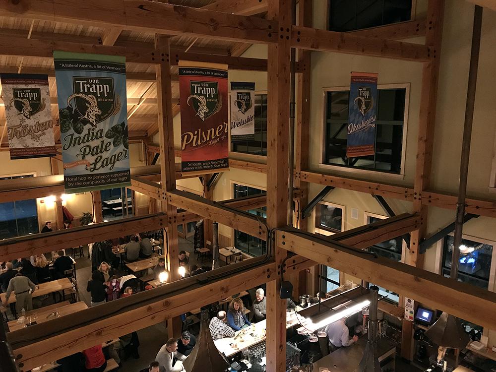 Vermont von Trapp Brewing Bierhall Restaurant