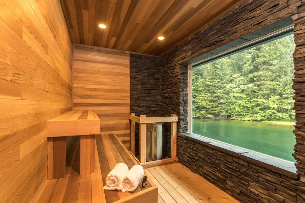 Ocean House sauna on Haida Gwaii
