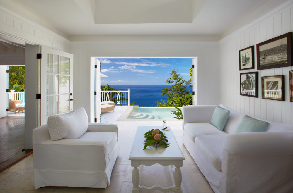 Saint Lucia Sugar Beach, A Viceroy Resort Superior Luxury Villa living room
