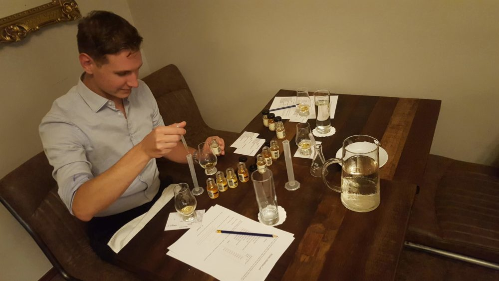 Whisky blending at Shieldaig Lodge, Scotland