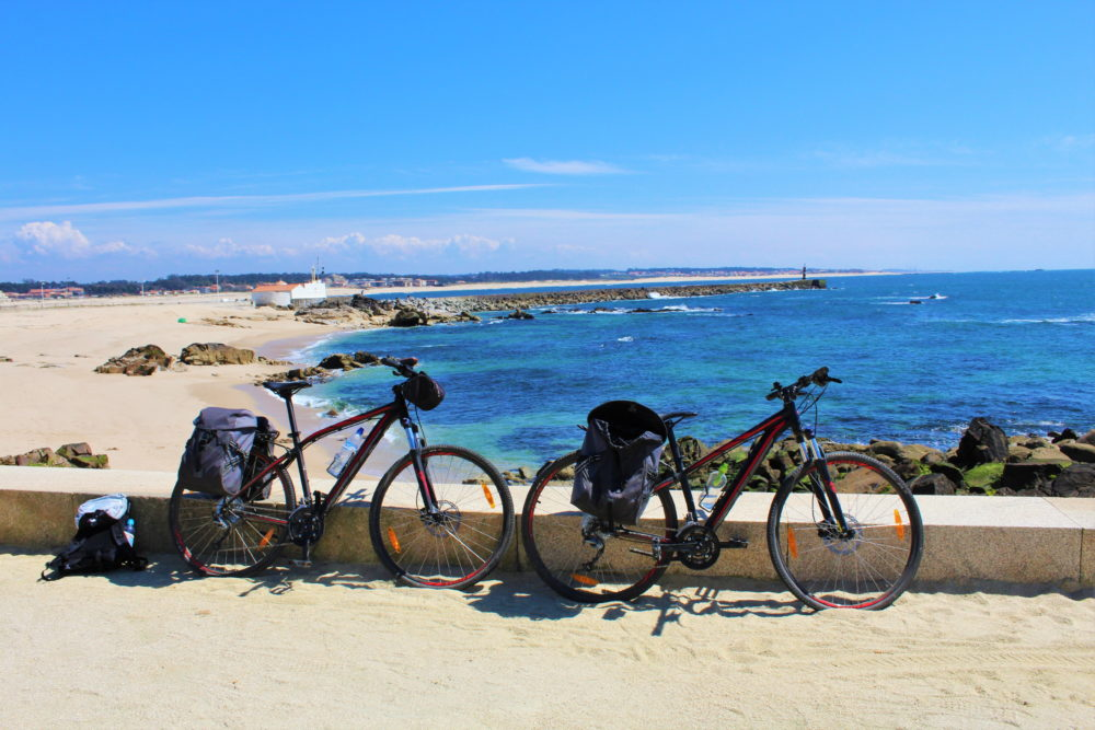 Beachfront cycling in Portugal