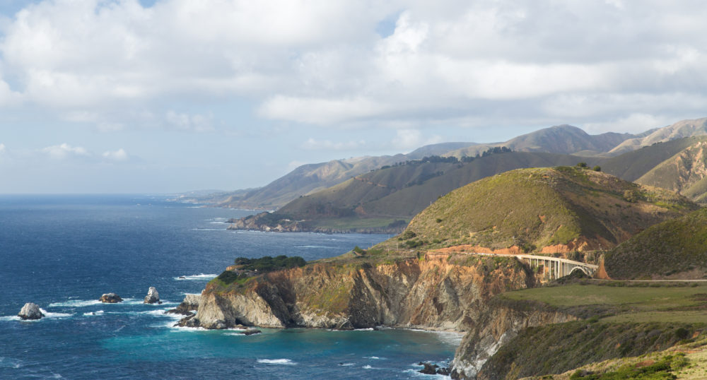 Big Sur on the Pacific Coastal Highway in California
