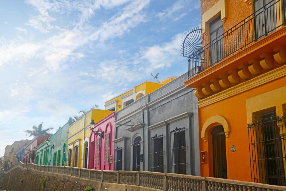 Mazatlan colonial streets