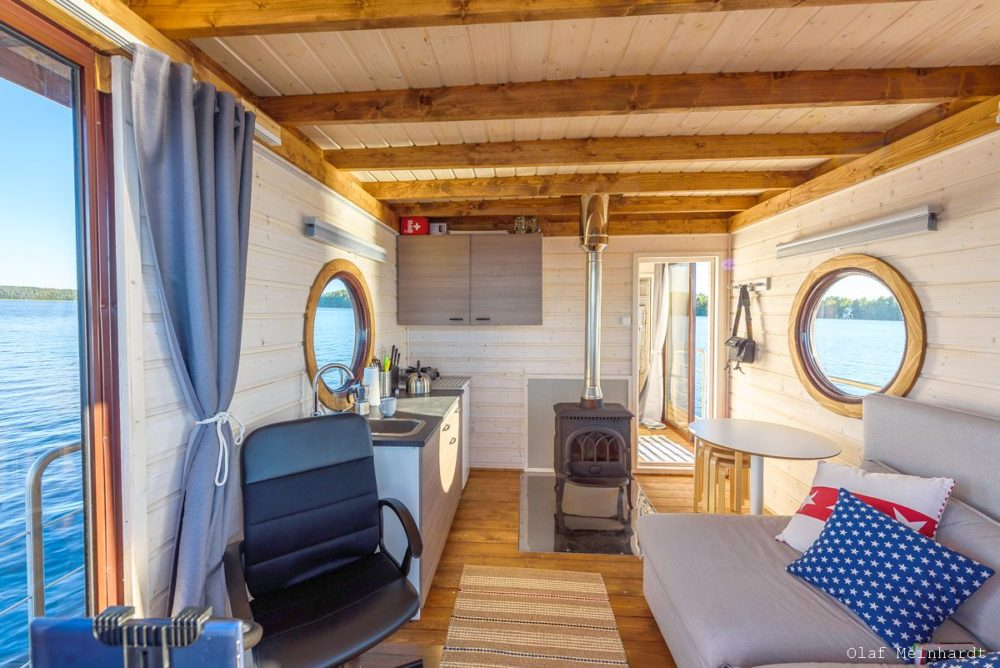 Eco-Wood houseboat Finland