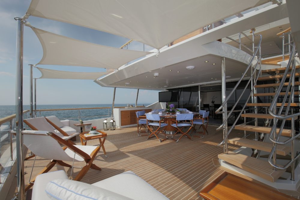 Burgess Yachts Inspiration bridge deck