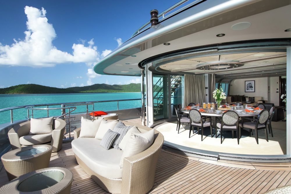 Slipstream sky lounge luxury yacht
