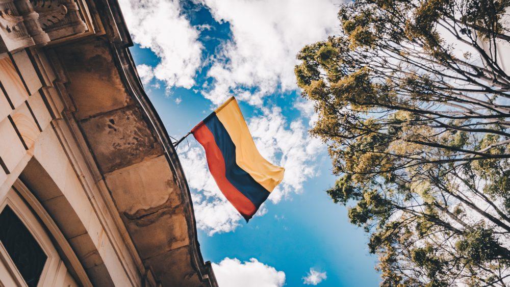Bogota Colombia flag