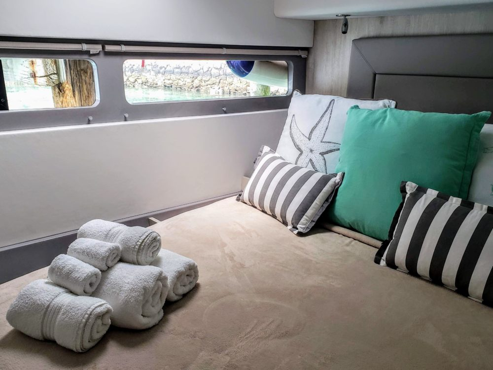 Master bedroom The Moorings Bahamas
