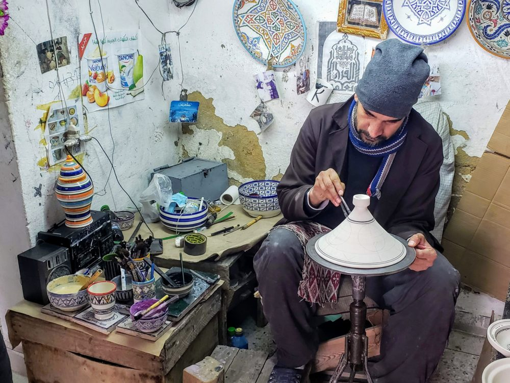 Pottery making in Fes
