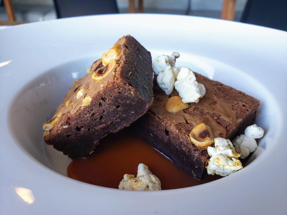 Hazelnut brownie aboard Bota Bota