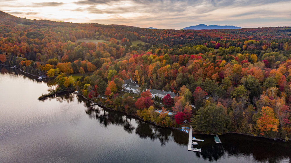 Manoir Hovey Quebec Aerial Fall