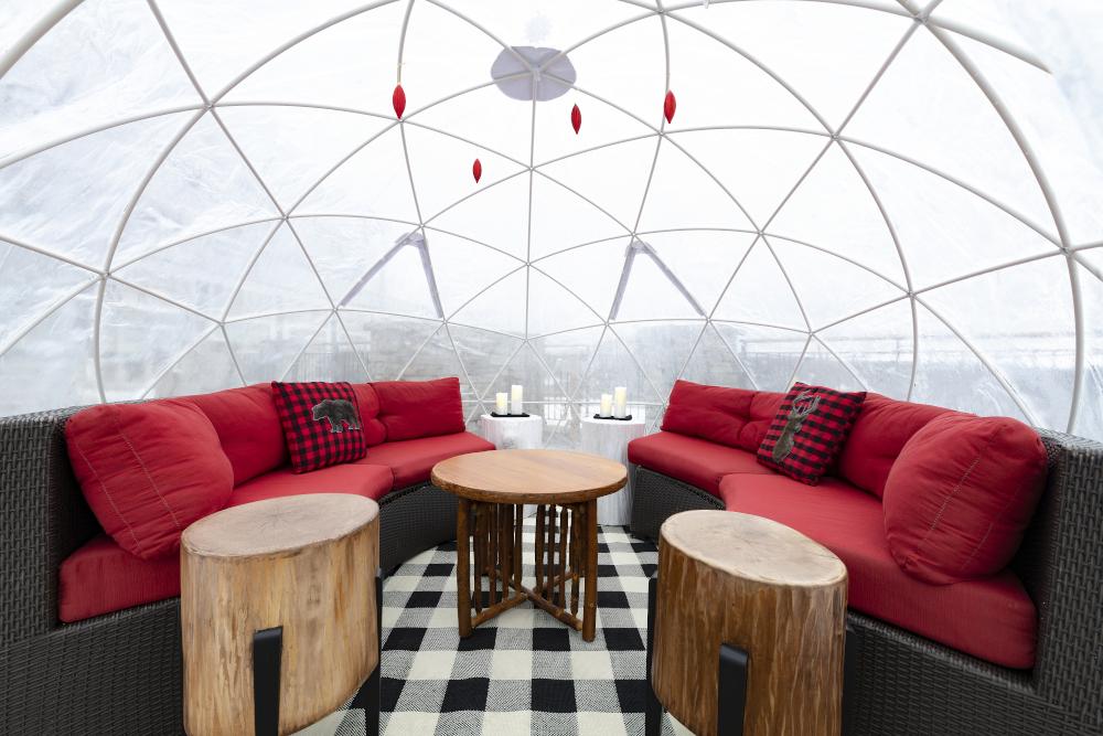 Muskoka Ice Caves Crystal Igloo geodesic domes