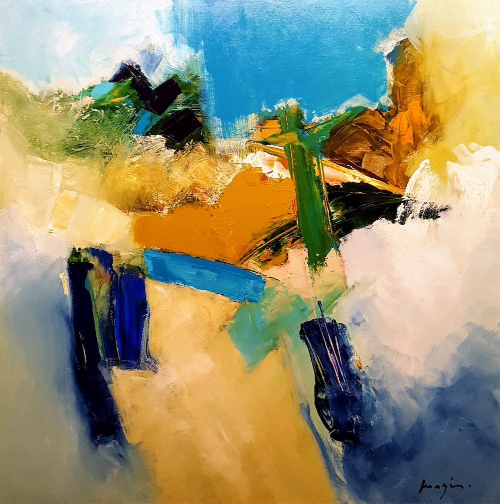 Abstract painting by Pascal Magis