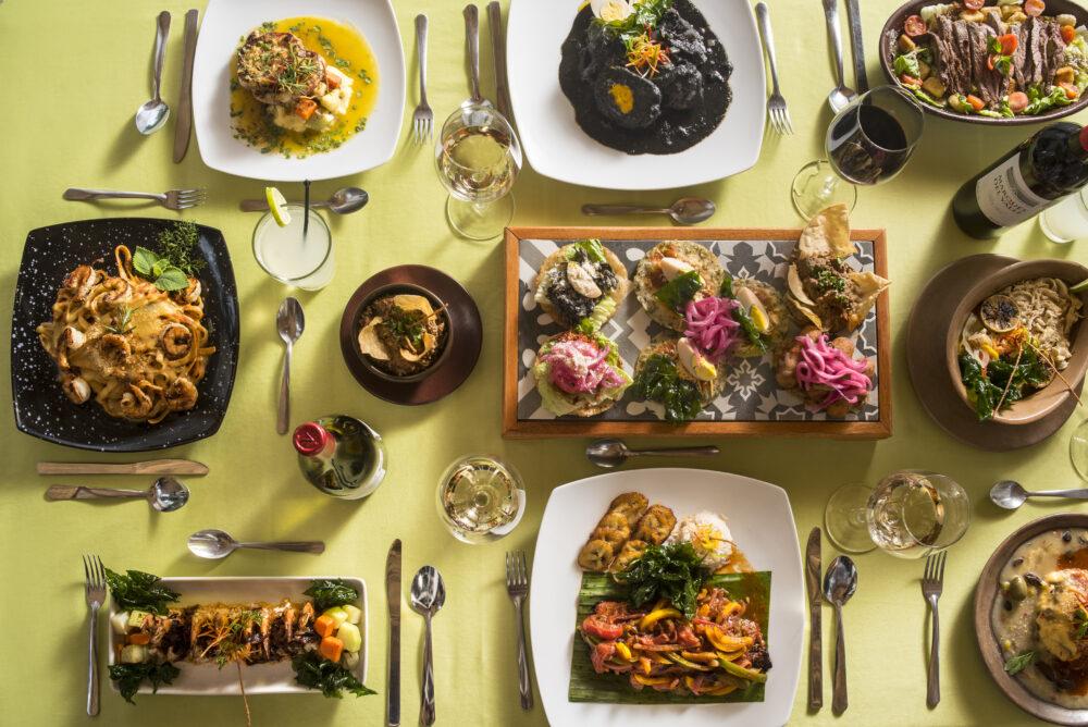 Yucatan food spread